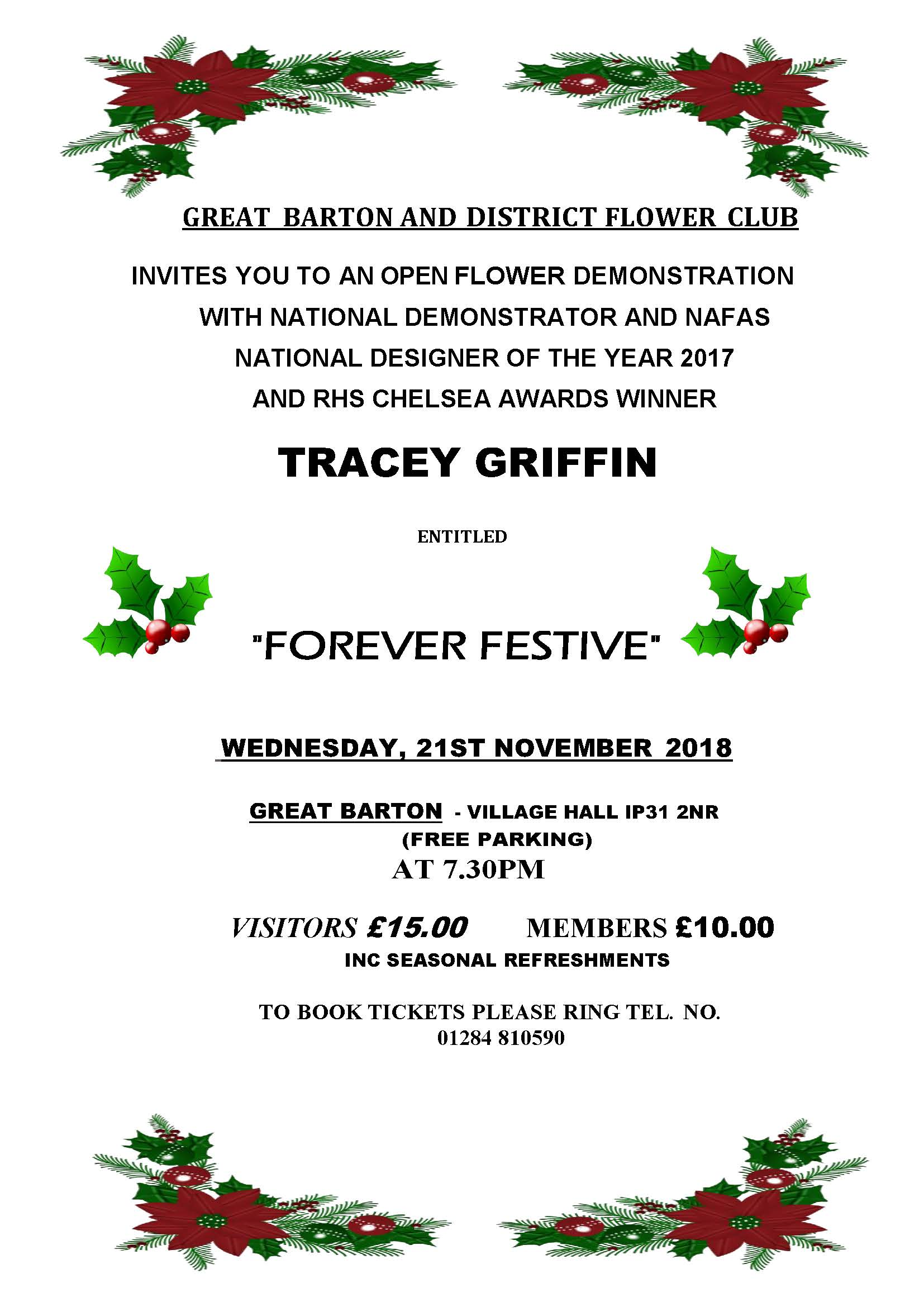 Gt Barton and District Flower Club - Floral Demonstration