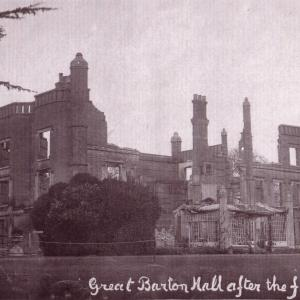 Barton Hall After Fire