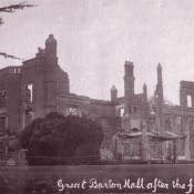 Barton Hall after Fire 1914