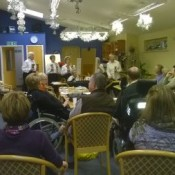 Stroke Club being entertained by Great Barton Bell Ringers